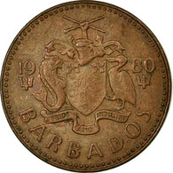Monnaie, Barbados, Cent, 1980, Franklin Mint, TTB, Bronze, KM:10 - Barbados