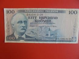 ISLANDE 100 KRONUR 1961 CIRCULER (B.6) - Iceland
