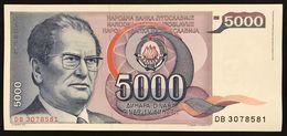 YUGOSLAVIA JUGOSLAVIA  5000 Dinara Mareshal Tito 1985  FDS / UNC Lotto.369 - Jugoslavia