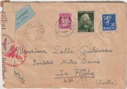 Letter By Air Saudasjoen For France, Geman Censorship  1944 - Covers & Documents