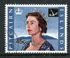 Pitcairn Islands 1967 QEII Decimal Currency Pictorials 45c On 8/- Queen Elizabeth II Used (SG 81) - Stamps