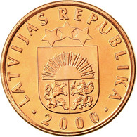 Monnaie, Latvia, 2 Santimi, 1992, SPL, Copper Clad Steel, KM:21 - Letonia