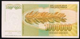 YUGOSLAVIA JUGOSLAVIA  1000000 Dinara 1 Million 1989  FDS / UNC Lotto.509 - Jugoslavia
