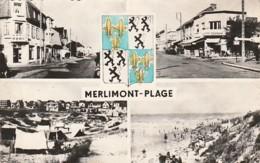 ***  62  ***  MERLIMONT PLAGE Vue Diverses - Multi-vues Timbrée TTB - Autres Communes