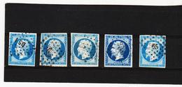 POST357 FRANKREICH 1853 Michl 13 I Verschiedene FARBEN  Gestempelt SIEHE ABBILDUNG - 1853-1860 Napoléon III.