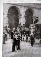 1928 Italie Roma Palais Farnèse M.de Beaumarchais,Comte Sant'Elia, Colonel Langlois  TBE - Non Classificati