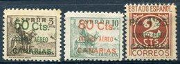 CANARIAS    Nº  34 / 36  Charnela -1017 - Nuevos & Fijasellos