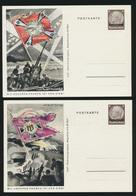 Besetzung Lothringen Propaganda Ganzsache P 5 Mit Unseren Fahnen Ist Der Sieg 3 - Besetzungen 1938-45