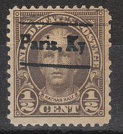 USA Precancel Vorausentwertung Preo, Locals Kentucky, Paris 653-L-2 TS, Perf. Not Perfect - Vereinigte Staaten