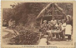 01.  SAINT MAURICE DE GOURDANS.  LA TERRASSE DU RESTAURANT - Autres Communes