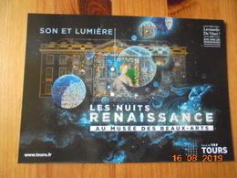 Tours. Son Et Lumiere: Les Nuits Renaissance Au Musee Des Beaux Arts.  CPM Publicitaire D'office De Tourisme Tours  2019 - Tours