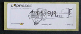 FRANCE - VIGNETTES ILLUSTREES - VIG 81 - 2011 - L' ADRESSE - BREGUET XIV - 2010-... Illustrated Franking Labels