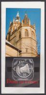 """Gedenkmedaille """"Gloriosa"""", Erfurt, Pass. Faltblatt Dazu - Monete Allungate (penny Souvenirs)"""