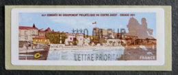 FRANCE - VIGNETTES ILLUSTREES - VIG 92 - 2011 - 66 CONGRES PHILATELIQUE DU CENTRE-OUEST - COGNAC - 2010-... Illustrated Franking Labels