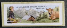 FRANCE - VIGNETTES ILLUSTREES - VIG 95 - 2012 - ASSEMBLEE GENERALE PHILAPOSTEL - ARECHES - 2010-... Illustrated Franking Labels