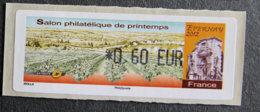 FRANCE - VIGNETTES ILLUSTREES - VIG 98 - 2012 - SALON PHILATELIQUE DE PRINTEMPS - EPERNAY - 2010-... Illustrated Franking Labels