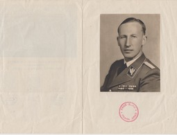 II.WK Böhmen Und Mähren 1943 Illustriertes Faltblatt Prag Mit 128/39,131 Und Innen Bild Heyderich - Covers & Documents