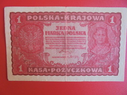 POLOGNE 1 MARKA 1919 CIRCULER (B.6) - Poland