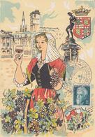 Carte    FRANCE   Foire  Gastronomique    DIJON   1955 - Cachets Commémoratifs