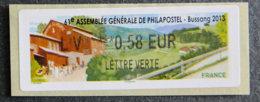 FRANCE - VIGNETTES ILLUSTREES - VIG 119 - 2012 - ASSEMBLEE GENERALE PHILAPOSTEL - BUSSANG - 2010-... Illustrated Franking Labels