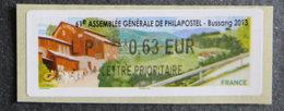 FRANCE - VIGNETTES ILLUSTREES - VIG 120 - 2012 - ASSEMBLEE GENERALE PHILAPOSTEL - BUSSANG - 2010-... Illustrated Franking Labels