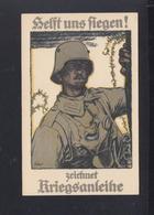 Dt. Reich PK Helft Uns Fliegen 1917 Gelaufen - Weltkrieg 1914-18