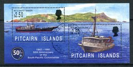 Pitcairn Islands 1997 50th Anniversary Of South Pacific Commission MS Used (SG MS511) - Islas De Pitcairn