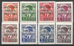 HR 1941-01-08 DEFINITIVE SET, CROATIA HRVATSKA, 1 X 1v, MNH - Kroatien