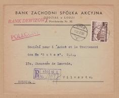 ENVELOPPE TIMBRE  RECOMMANDE 1937 TODZ 10 A VOIR CACHETS - 1944-.... Republik