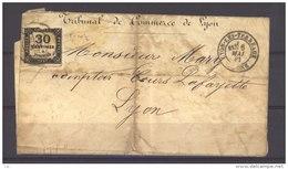 FRX 496  -  Taxe  :  Yv  6 (o)  Sur Lettre De Lyon Pour Lyon Du 6 Mai 81 - 1859-1955 Covers & Documents