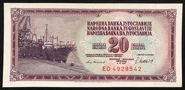 YUGOSLAVIA JUGOSLAVIA 20 DINARA 4.11. 1981 Pick#88b   FDS / UNC Lotto.576 - Jugoslavia