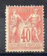 FRANCE - YT N° 94 - Neuf (*) Sg - Cote: 60,00 € - 1876-1898 Sage (Type II)
