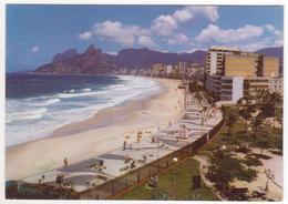 °°° 13762 - BRASIL - RIO DE JANEIRO - ARPOADOR , IPANEMA E LEBLON AO FUNDO - 1990 With Stamps °°° - Rio De Janeiro