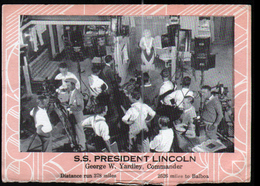 S.S. President Lincoln,Dollar Steamship Lines, Inside A Movie Studio, Hollywood - Los Angeles