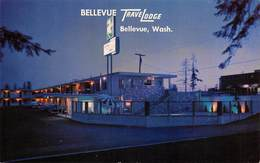 "09508 ""WASHINGTON - BELLEVUE - TRACE LODGE""  NOTTURNO.   CART  NON SPED - Bellevue"