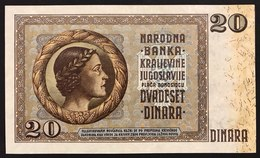 YUGOSLAVIA JUGOSLAVIA  20 Dinara 1936 Q.FDS / UNC- Lotto.125 - Jugoslavia