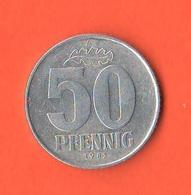 Germania Est DDR Germany Democratic Republic 50 Pfenning 1982 A - [ 6] 1949-1990 : RDA - Rep. Dem. Tedesca