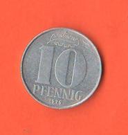 Germania Est DDR Germany Democratic Republic 10 Pfenning 1979 A - [ 6] 1949-1990 : RDA - Rep. Dem. Tedesca