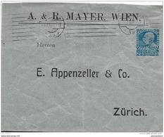 55 - 6 - Entier Postal 25cts 1910 Envoyé à Zürich - Stamped Stationery