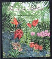MALDIVES - B/F - M/S - FLEURS - FLOWERS - 2003 - - Maldives (1965-...)