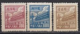 CHINA 1950 - MiNr: 13+19+20  * - Ungebraucht