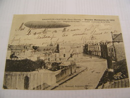 """C.P.A.- Argenton Château (79) - Grandes Manoeuvres - Dirigeable """"Dupuy De Lôme"""" Au Dessus Ville - 1912 - SUP (CL 71) - Argenton Chateau"""