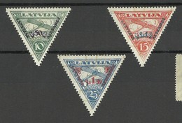 FAUX FAKE LETTLAND LATVIA 1931 Michel 190 - 192 A * FÄLSCHUNGEN - Lettonie