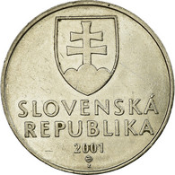 Monnaie, Slovaquie, 2 Koruna, 2001, SUP, Nickel Plated Steel, KM:13 - Eslovaquia