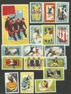 RUSSIA 1965 Matchbox Labels - Ballet On Ice (catalog # 140) - Matchbox Labels