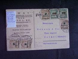Germania. Grande Inflazione.Postkarte X L'estero. Descrizione. 3 Foto - Deutschland