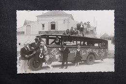 FRANCE - Carte Postale Photo - Autocar ( De Cirque ?) Avec Panneau Du Casino Du Crotoy - Fête , Clown - L 40997 - A Identifier