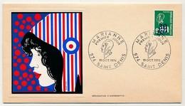 FRANCE-REUNION - 2 Enveloppes Thiaude Premier Jour Marianne - Saint Denis - 19 Oct 1974 - Réunion (1852-1975)