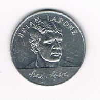 //  TOKEN  BRIAN LABONE   ENGLAND WORLD CUP  SQUAD  MEXICO  1970 ESSO - Pièces écrasées (Elongated Coins)