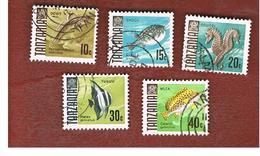 TANZANIA  -  SG 143.147 -  1967  FISHES     - USED ° - Tanzania (1964-...)